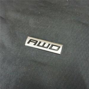 1PC Chrome Black AWD Decal Sticker Emblem Metal Badge Engine Grand Drive vehicle