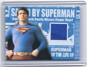 TOPPS Superman Returns VARIANT authentic genuine Suit costume material card