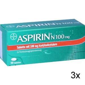 3x ASPIRIN N 100 mg Tabletten 98 St PZN: 5387239