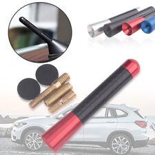 """8cm/3"""" Universal Car Carbon Fiber Aluminum Screw Red Short Antenna Aerial"""