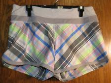 Lululemon 10 Groovy Run Short Rad Plaid Vintage Pink Ambient Gray EUC! Cute!