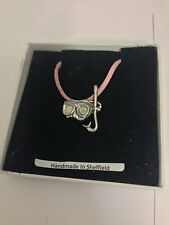 Snorkel Mask Sport PP-U08 Pewter Pendant on a PINK CORD Necklace