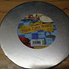 "Kingfisher 10 "" / 25cm Rotondo Per Torta Tamburo / Board FOIL COPERTA & avvolta. Home Baking."