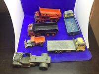 Vintage Dinky Die cast Goods vehicles tipper trucks snow plow job lot