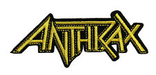 Anthrax Logo Embroidered Iron On Patch - Music Rock Band - 153-E
