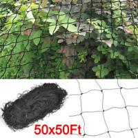 50'x50' Anti Bird Netting Soccer Game Garden Plant Poultry Aviary Net 2'' Mesh