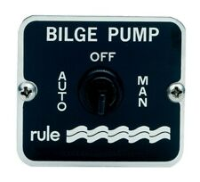 Rule Model 45 3 Way Bilge Pump Panel Switch. 57mm x 50mm Auto & Manual Positions