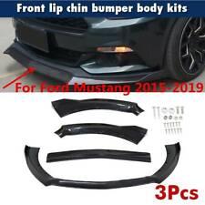 Glossy Black Front Bumper Lip Spoiler Splitter For Ford Mustang 2015 2017 2016 Fits Mustang
