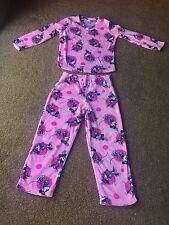 Women's DISNEY MINNIE MOUSE Pink Plush Soft Cozy Fleece PAJAMAS sz M (8-10)