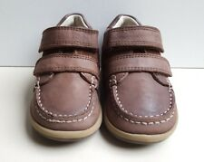 CLARKS 'Softly Doc' Fst Boys Dark Brown leather Boots Uk Infant Size 4F