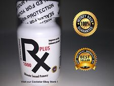 RX 1000 Plus Natural Sex Male Supplement 30 Capsules + Free sample
