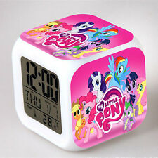 My Little Pony Figures Doll Color Changing Night Light Alarm Clock Kids Toy Gift