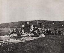 1908/52 WESTERN WAGON COWBOY Range Camp Dinner Food 11x14 Art By ERWIN E. SMITH