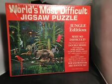 New Vintage World's Most Difficult Jigsaw Puzzle Jungle Edition Double Sided
