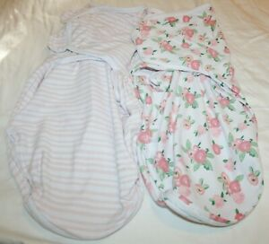 SwaddleMe Easy Swaddles with Easy Access Zipper Bottoms SM/MED 2pk