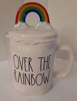 """Rae Dunn """"OVER THE RAINBOW"""" Mug With Rainbow Topper"""
