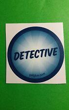 "DETECTIVE BLUE RAYS BADGE TV GETGLUE GET GLUE SMALL 1.5"" STICKER"
