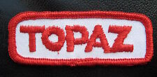 TOPAZ EMBROIDERED SEW ON ONLY PATCH NAME PERSONAL