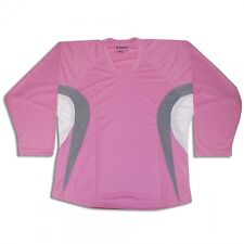 Pink Customized Hockey Jersey with Name and Number! Pink/Gray/White