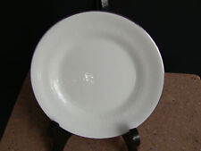 Wedgwood Silver Ermine White Bread and Butter Plates Contour Shape / Set of 4