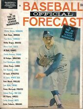 1964 Baseball Official Forecast, magazine, Sandy Koufax, Los Angeles Dodgers