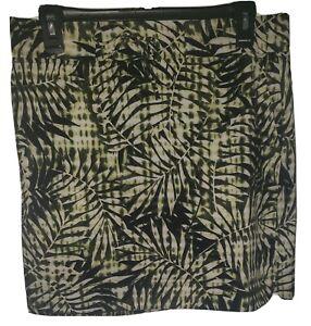 J Jill Fit Women's Athletic Skort Tie Dye Hawaiian Print Palms Drawstring Size S