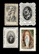 santini merlettati-holy cards lace-canivets-spitzebildichen LOTTO N.372