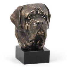 Dogue de Bordeaux, French Mastiff, statuette sur marbre, bronze, chien, Art Dog