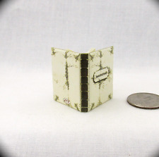 WHITE BOOK OF INCANTATIONS Magic Spell Book Miniature Dollhouse 1:12 Readable