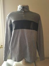 Calvin Klein Men's Colorblocked Quarter-Snap Sweater 2166 size L