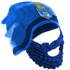 NEW 2017 State of Origin NSW New South Wales Blues NOVELTY BEARD BEANIE Game Day