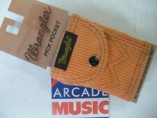 Wrangler pick pocket for plectrums attaches to guitar strap colour melon