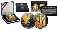 2011 SEPTEMBER 11 NATIONAL MEDAL 1oz Silver Proof Coin BLACK RUTHENIUM Gold Clad