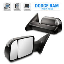 For 02-08 Dodge Ram Black Left Driver Side Mirror Power Heated LED Signal Puddle