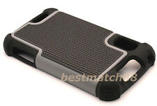 for Motorola atrix 4g mb860 rugged case triple layer hybrid soft hard gray black