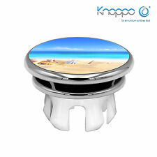 KNOPPO® Waschbecken Überlaufblende / Abdeckung - Mirror Strand Motiv (chrom)