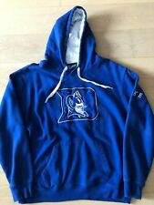 Vintage Duke University Blue Devils Sewn-On Hoodie Pullover Sweatshirt Mens L