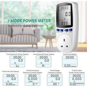 Plug-in Electricity Power Consumption Meter Energy Monitor Watt Kwh Analyzers