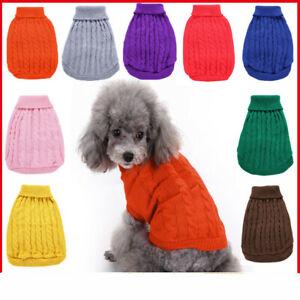 Dog Pet Warm Sweater Jumper Winter Knitwear Jacket Coat Puppy Clothes Soft Top