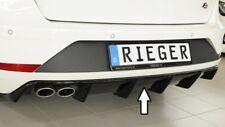 Rieger Heckeinsatz schwarz glänzend für Seat Leon FR (5F): 01.17- (ab Facelift)