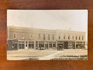 Michigan, MI, Litchfield, RPPC, T. H. Warwick Store, Shattuck Hardware, ca 1910