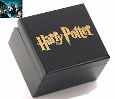 { HARRY POTTER} Black Wooden Square Engrave Music Box