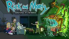 Rick And Morty TV Series Animation Poster Print T474 |A4 A3 A2 A1 A0|