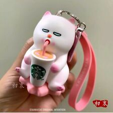 New Starbucks 2020 China Pink Sakura Cat Vivicat Keychain