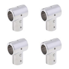 """4Pcs 316 Stainless Steel Boat Hand Rail Fitting 90 Degree Tee 25mm 1"""""""