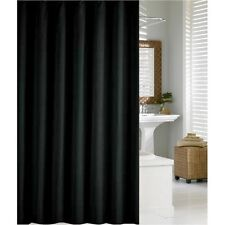Plain Black Fabric Shower Curtain 2.1m New FREE SHIPPING