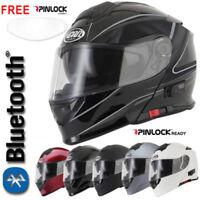 VCAN V271 BLUETOOTH BLINC FLIP FRONT MOTORCYCLE HELMET  FREE PINLOCK ANTI FOG