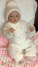 Aran All-in-One Outfit & Hat ~ Baby Pattern. VR56