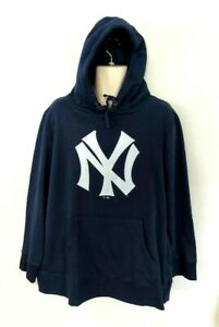New York Yankees Womens Hoodie Size 3XL Blue MLB Fanatics Sweatshirt XXXL