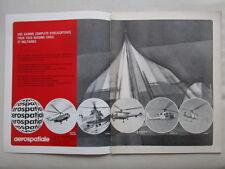 5/1972 PUB AEROSPATIALE CONCORDE GAZELLE LAMA PUMA ALOUETTE SUPER FRELON AD